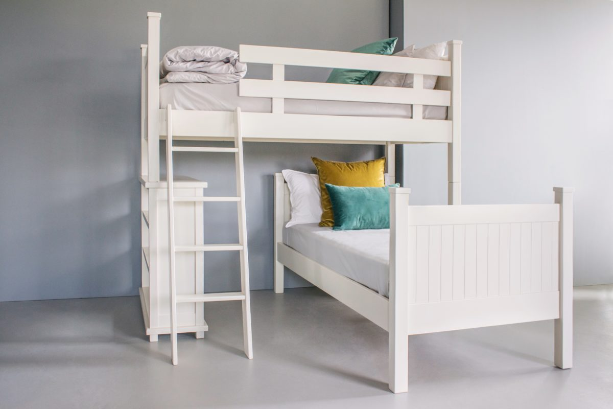 Picture of: L Shape Bunk Bed With Bookcase The Room