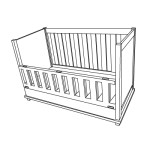 Hinged side - cot